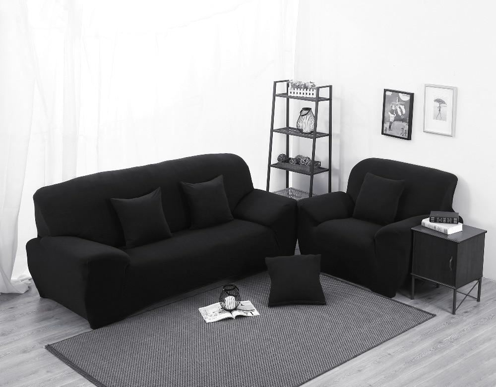 Perfect Funda Sofa Cover Black Color Sectional Sofa Cover L Shaped Sofa Cover  Elastic Universal Wrap