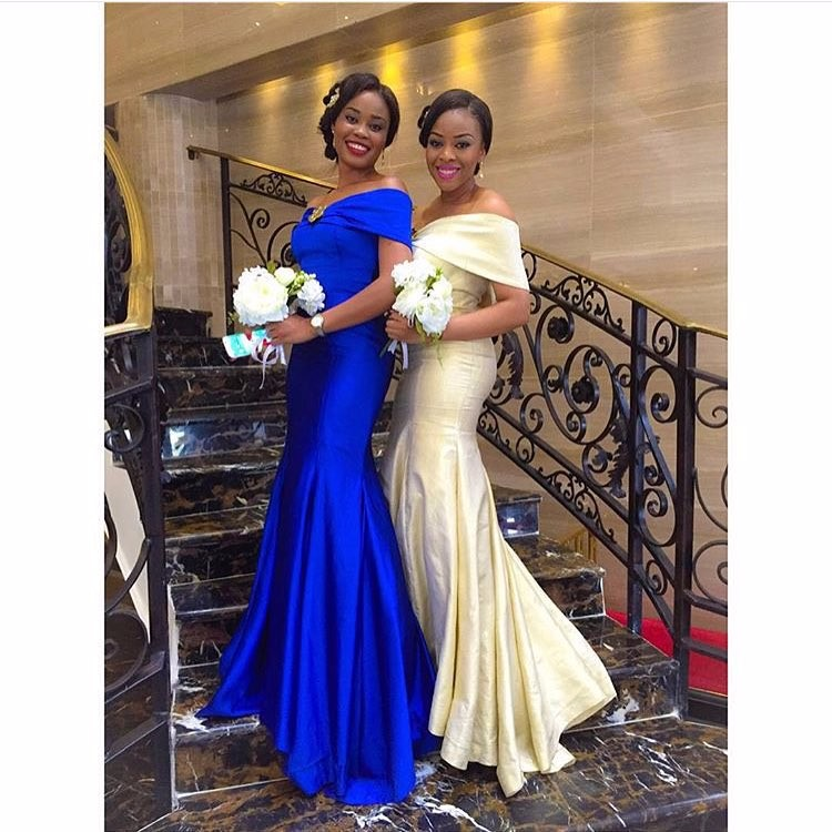 Modest Champagne Royal Blue Bridesmaid Dress Mermaid Floor Length 2017 Plus Size Wedding Guest Dresses Vestido De Madrinhas In From