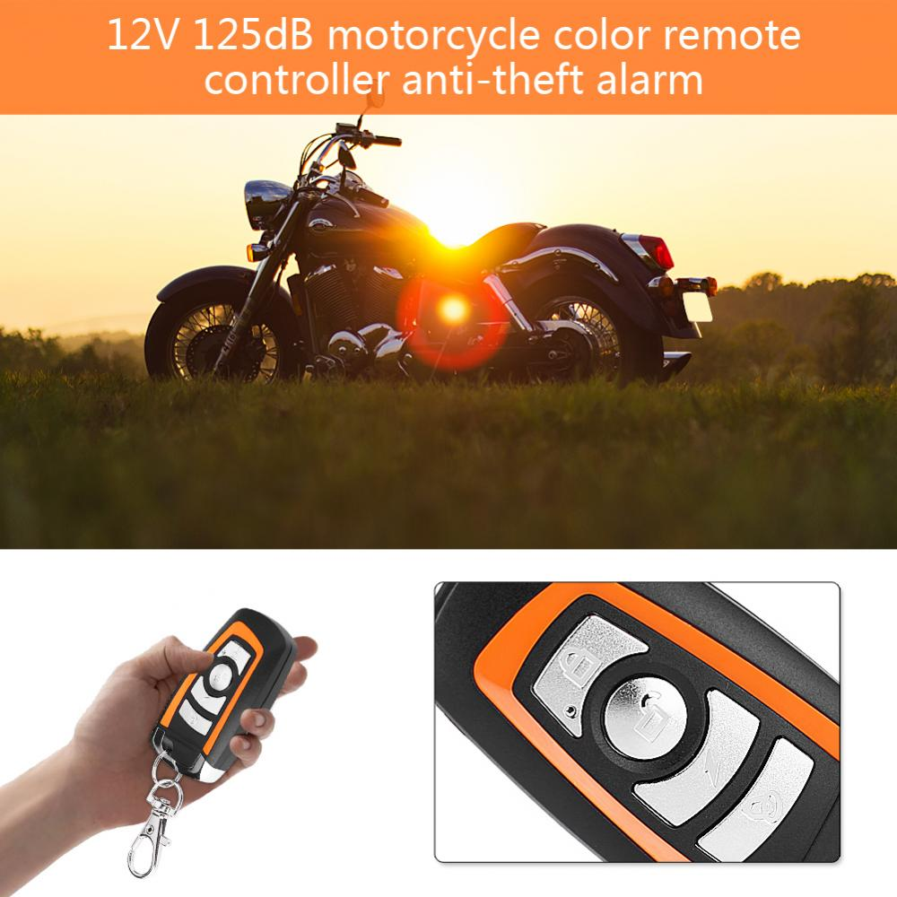 US $13 33 17% OFF 2 way Motorcycle Alarm with Engine Start Remote Control  Key Fob Anti theft Security Alarm System alarma moto 125db Universal-in