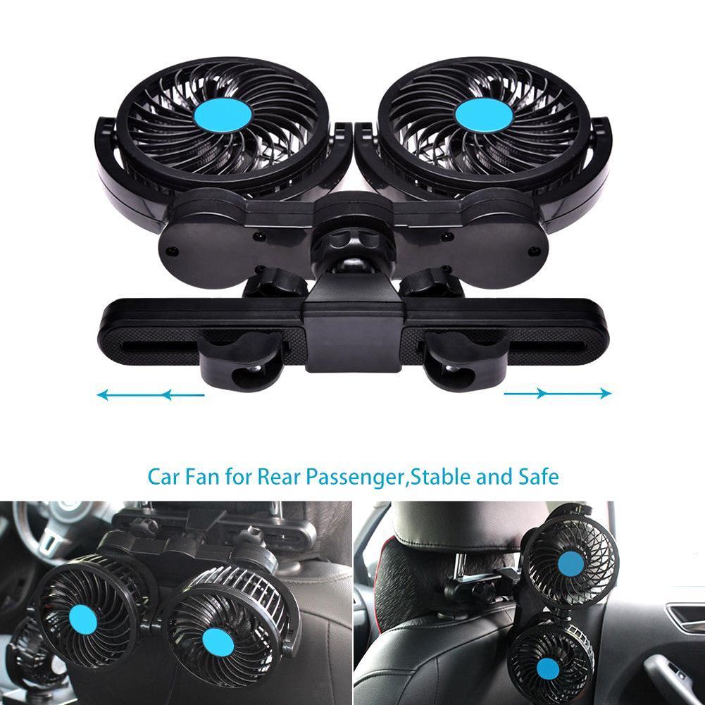 360 Degree Rotatable Car Fan Rear Passenger Portable Car Seat Fan Headrest Backseat Car Fan Cooling Air Fan in Fans from Home Appliances