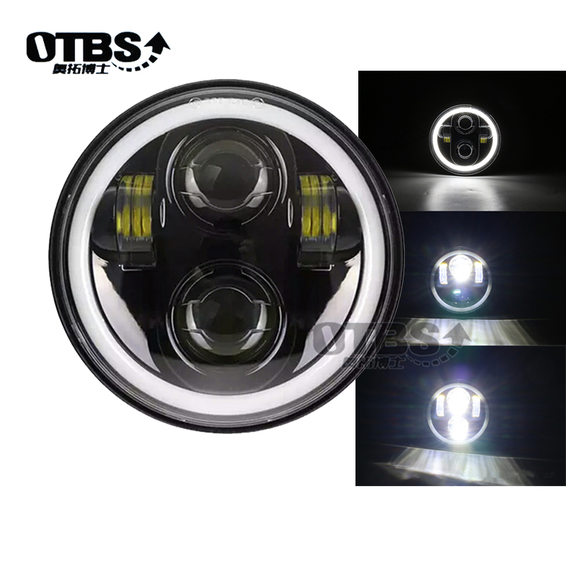5.75 inch Motorcycle Led Headlights 5 3/4 Headlamp With Angel Eye for motorcycle Sportster 883 XL883 FXCW/C, FXS, FXSB.