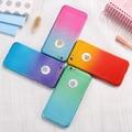 Para iphone 7 7 plus color del gradiente de 360 grados caso para iphone 6 6 S 6 Más 7 Más Cubierta Protectora Dura de la PC de Pantalla de Cristal Protector