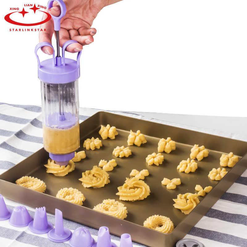 18 Uds máquina de prensa para galletas y galletas, herramienta de cocina, herramientas de decoración para pasteles, prensa para galletas, boquilla de escarcha, herramientas para hornear
