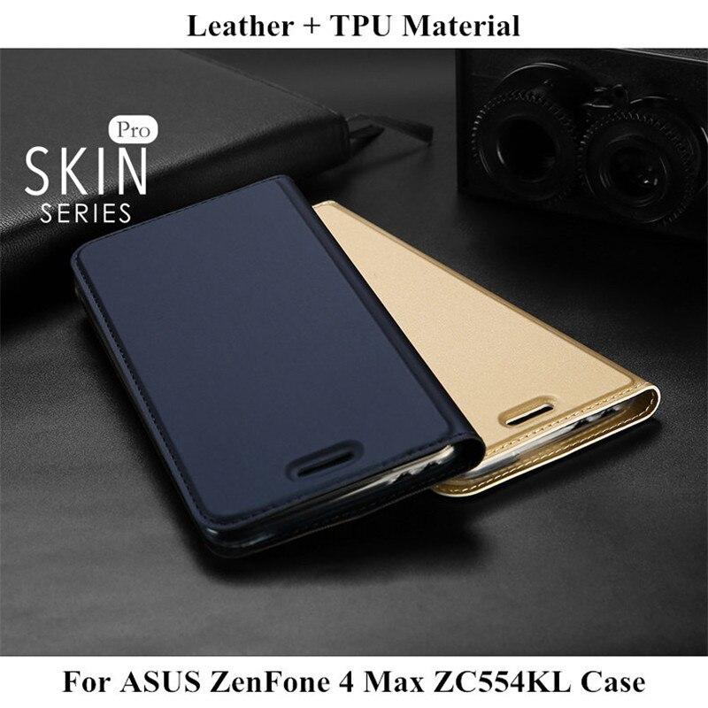 DUX DUCIS En Cuir Flip Cas Pour ASUS ZenFone 4 Max ZC554KL De Luxe portefeuille Capa Livre Couverture Pour Asus Zenfone 4 Max ZC554KL 5.5 Nouveau