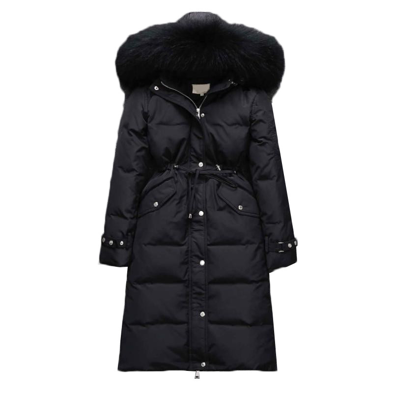 Women Parkas NEW Winter Down Jacket Long Coat Thicken Warm Hooded Outerwear Slim Large size High Quality Women Basic Coats AA467