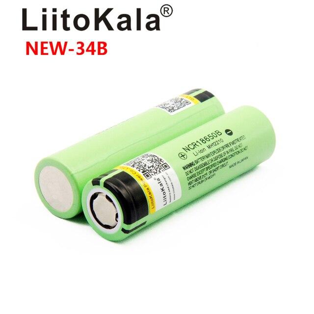 Liitokala New Original 18650 3400 mah 3200mah battery NCR18650B Rechargeable 3.7V Li-ion battery