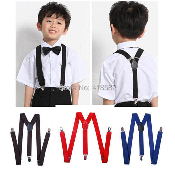 BD001-S size 100pcs/lot Wholesale big discount 36 candy colors baby Suspenders Y -back adjustable Braces for boys and girls