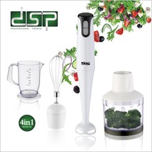 купить DSP 4 In 1 Blender Food Mixer Processors Whisk Food Set Stainless Steel 200W Electric 2 Speed Control 220-240V дешево
