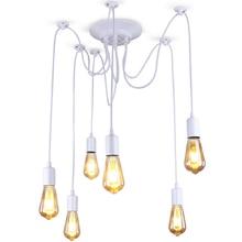 Lámpara Edison Retro nórdica moderna, lámpara candelabro Vintage, Loft antiguo, ajustable, DIY, arte, Araña, lámpara de techo, accesorio de luz