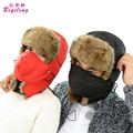 Classics Black Red Color Bomber Hat For Men Women Winter Warm Ear Flaps And Mask Russian Ushanka Hats Outdoor Ski Caps