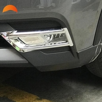 For Nissan Kicks 2016 2017 2018 Chrome ABS Front Fog Lights Cover Trim Sticker Car Styling