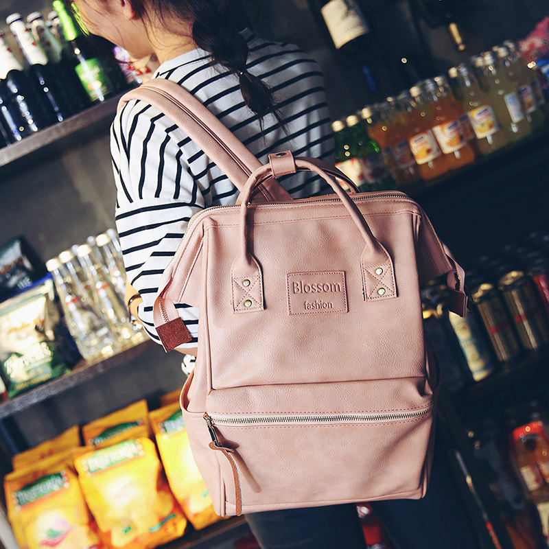 korean Women Stylish Vintage Leather Backpack Blue Pink White School Bags for Teenager Girls Casual Solid Backpack Rucksackskorean Women Stylish Vintage Leather Backpack Blue Pink White School Bags for Teenager Girls Casual Solid Backpack Rucksacks