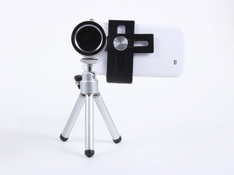 Universal 12X Zoom Phone Camera Lens Telephoto Telescope With Mount Clip Holder Mini Tripod Stand Lens For iPhone Smartphone 11
