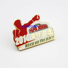 2018 New Fighting Box Metal Badge Customization, Boxing Metal Medal Customization, Boxing Honorary Badge,soft enamel brooch(China)