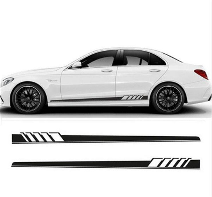 Free Shipping Car Style Stripes Sticker Side skirt Auto Side Skirt for AMG Edition Stripe Side Body Garland for Mercedes C Class amg mercedes c class dtm 2008 с двигателем г киев