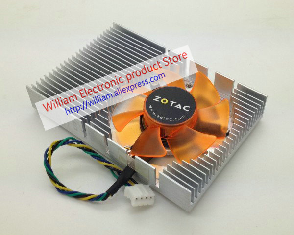 US $13 5 10% OFF|New Original for ZOTAC 9400gt geforce 9500 GT Graphics  card cooler cooling fan Pitch 43MM FONSONING-in Fans & Cooling from  Computer &