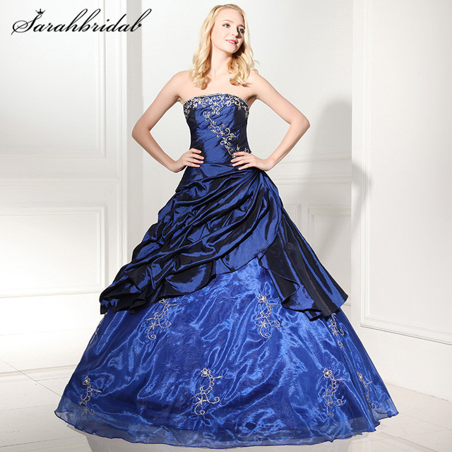 14d2ecb0b0f Sexy Quinceanera Dresses Sweetheart Modern Lace-up sleeveless Floor-Length  Strapless Elastic Satin Beaded Ball Gown Pleats SD112