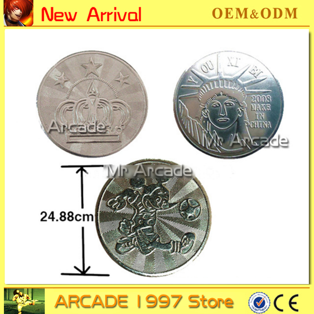 US $7 5 |Arcade amusement park 25*1 85mm game machine coin token Stainless  steel token coin made in China game token-in Coin Operated Games from