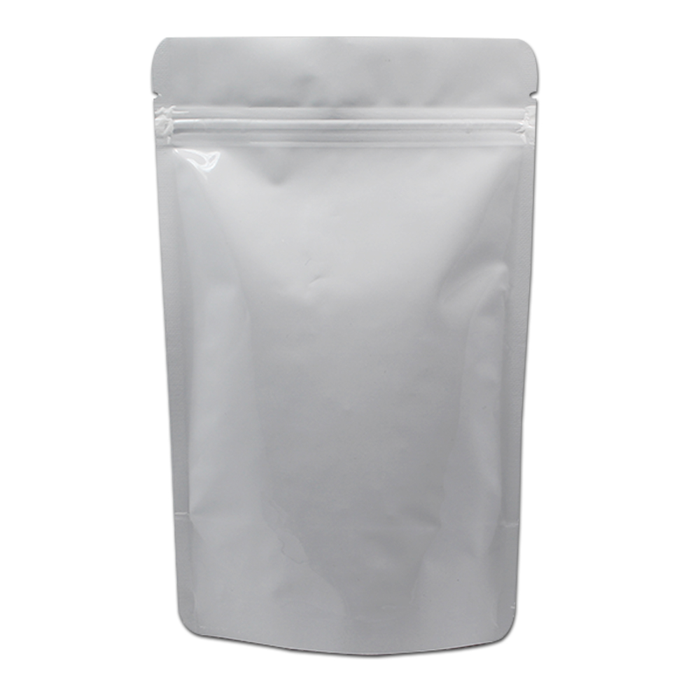 50Pcs Resealable Stand Up Pure Aluminum Foil Zip Lock Packaging Bag Mylar Food Packing Pouch for Coffee Powder Tea Package|Storage Bags|   - AliExpress