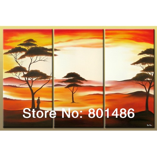 Aliexpress Com Buy 5 Panels Dusk Sunset Boat Printed: Popular Sunset Landscape Painting-Buy Cheap Sunset