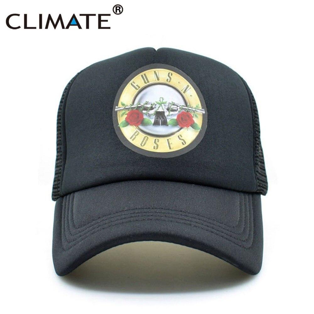 CLIMATE Guns N Roses   Cap   Hat Men GnR Rock Trucker   Caps   Cool Rock Band   Cap   Rock Music Band   Baseball     Caps   Black Hat Men