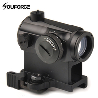 Tactical Mini 1X24 Rifescope Sight Illuminated Sniper Red Green Dot Sight With Quick Release Red Dot