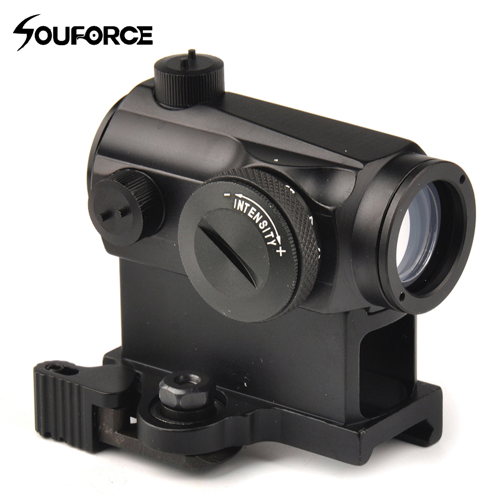 Tactical Mini 1X24 Rifescope Sight Illuminated Sniper Red Green Dot Sight With Quick Release Red Dot Scope Mount For Hunting 1 x 33mm red green light dot bird sight scope for dslr black 1 x cr2032