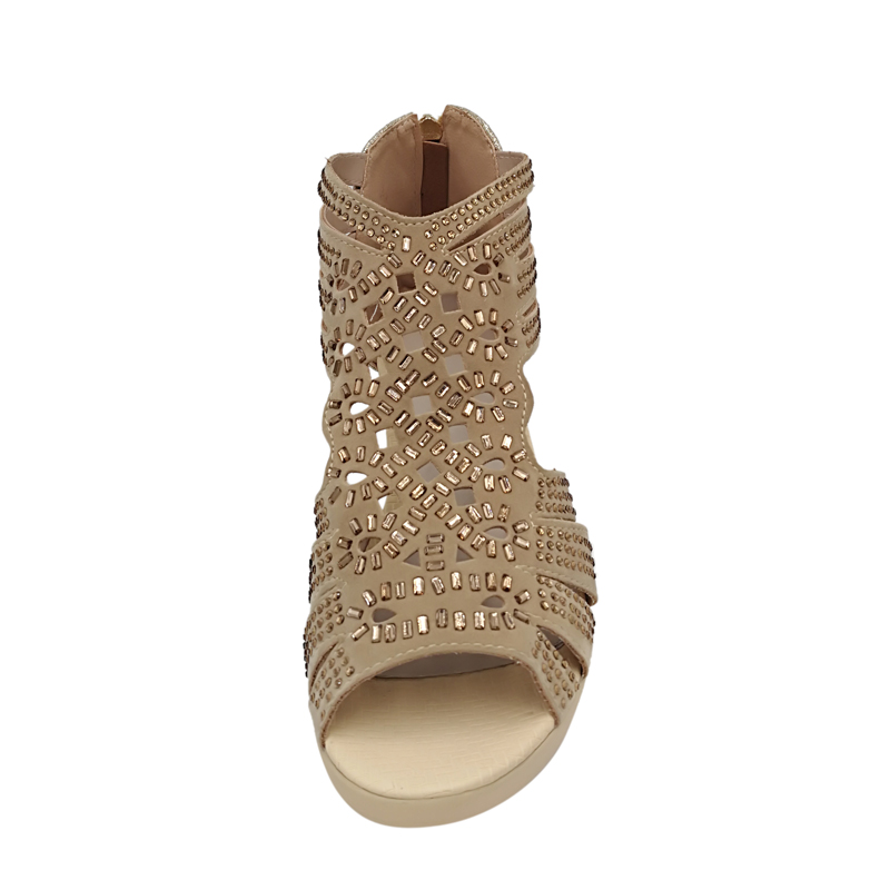 MAYLOSA women summer Sandals Rhinestone High Heels Sandals woman Genuine  Leather Gladiator Open Toe Sandalias Mujer-in Middle Heels from Shoes on ... 824c69ee04f8