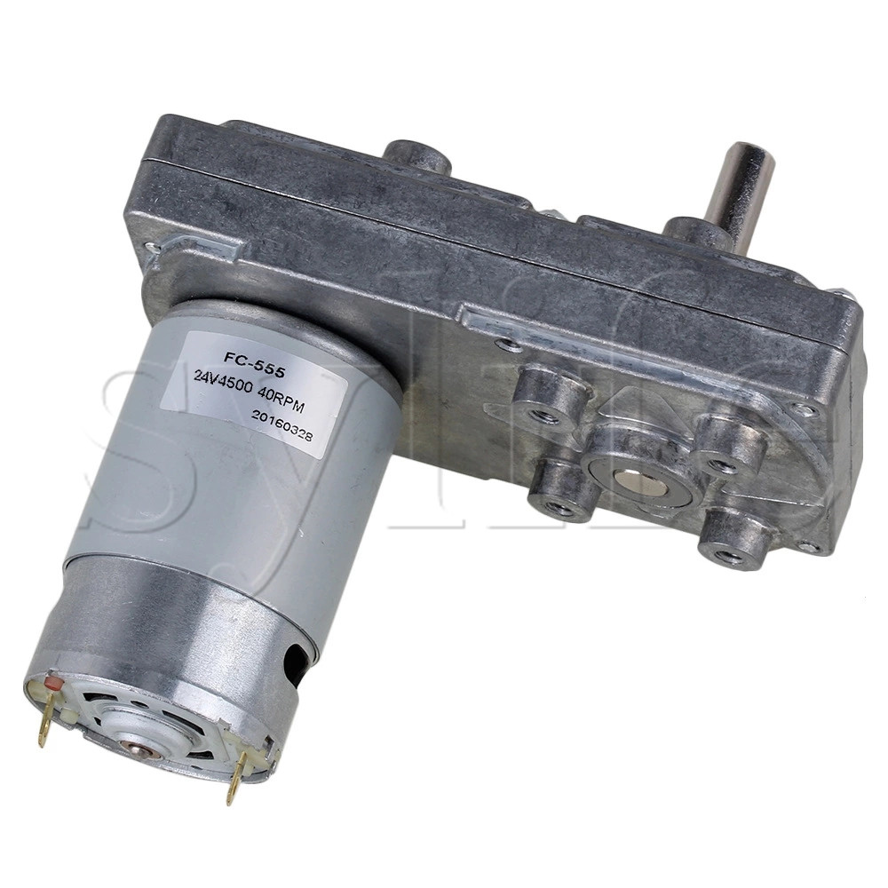 High Torque Metal Gear Motor Silver DC 12V 5RPM Square Electric Reduction Motor