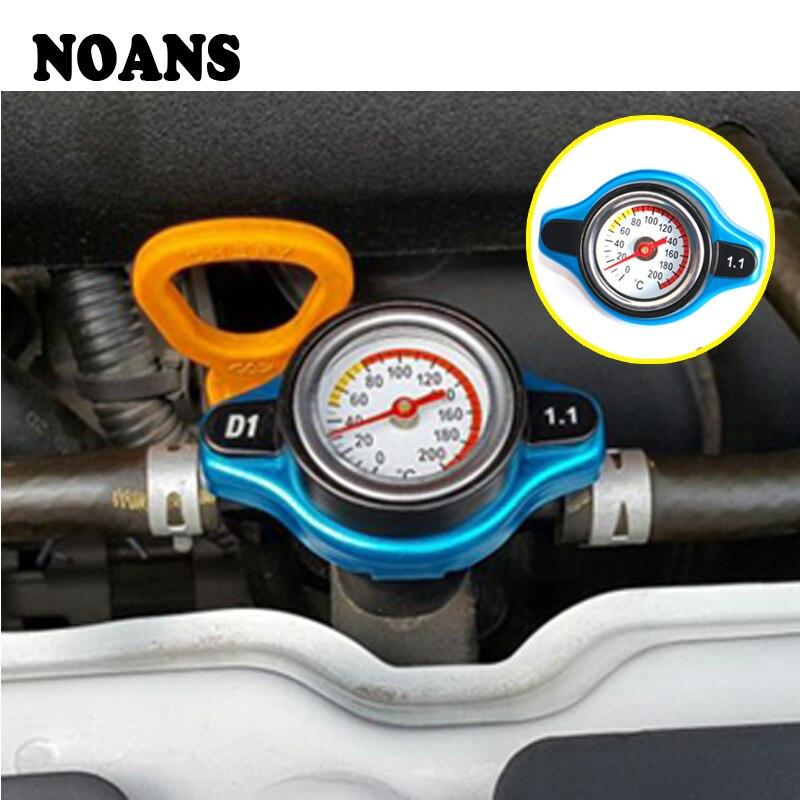 US $10 51 21% OFF|NOANS Car Water Tank Cap With Temperature Gauge Meter  Accessories For Ford focus 2 3 mk2 fiesta Suzuki swift grand Hyundai i30-in