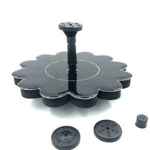 Image 3 - Солнечный фонтан, Бесщеточный насос, набор для полива растений с монокристаллической панелью для птиц, ванны, сада, пруда, энергосбережение