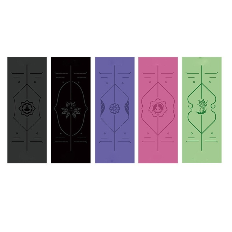 1PC Can Be Customized Separately 183*68cm Natural Rubber PU Professional Sports Fitness Mat Non-slip Yoga Mat Black Yoga Mat 5MM more longer new style 183cm 68cm 5mm natural rubber non slip tapete yoga gym mat lose weight exercise mat fitness yoga mat