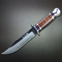 Mengoing Hot Fixed Blade Knife 5Cr13Mov Steel Hard Tough Outdoor Survival Knives For Hiking