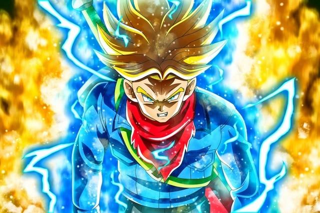 anime Dragon Ball Super Mirai Trunks DBS super saiyan rage ...