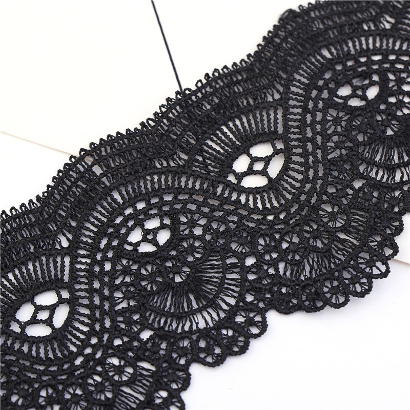 Gothic hollow out lace black choker necklace Short punk vintage necklace with High quality flower necklace for women girls in Choker Necklaces from Jewelry Accessories