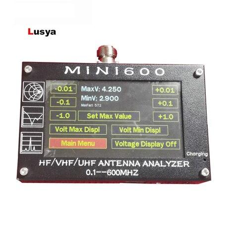 Analisador de Antena 5 do Medidor 1.5a para Rádio Polegada hf Vhf Uhf Swr 1.0-1999 v C6-007 Mini600 4.3 Lcd 0.1-600mhz