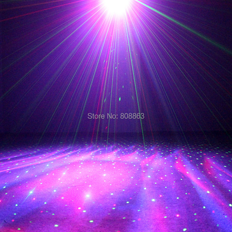 R&G Laser Pattern Projector Remote RGB LED Dream Water Galaxy Full Color Effect DJ Dance Bar Xmas Party Disco Light Show B168