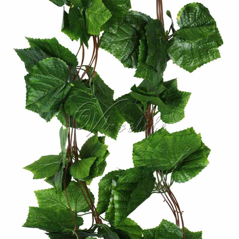 10pcs/lot 2.3m artificial plants grape ivy vine fake foliage garland Silk Plants and Flowers