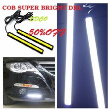 2pcs Car Styling car driving Day Running Light 17CM drl Waterproof COB Daytime LED DRL Lamp For Car driving(China)