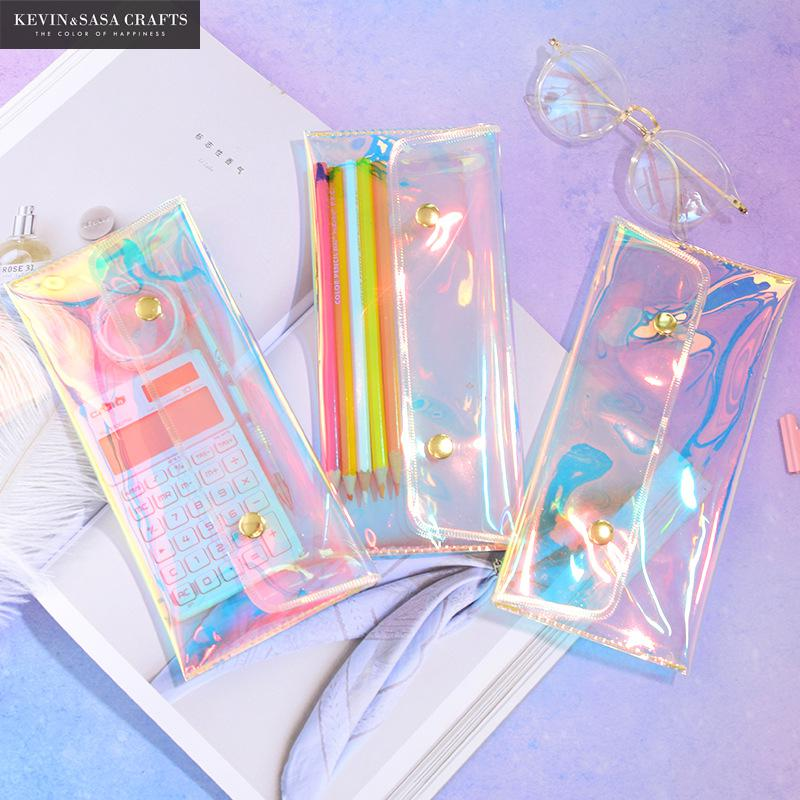 Laser PVC Pencil Case Super Big School Supplies Bts Stationery Gift School Cute Pencil Box Pencilcase Pencil Bag School Supply minecraft pencil case for boys pencil case multifunction pencil box big capacity pencil bag school supplies bts stationery gift