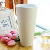Proste style wazony Biały Ceramiczny Wazon Jardiniere Kwiaty Home Decor