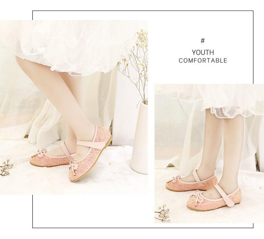 de Dança de Couro Princesa Menina Sapatos Único