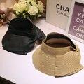 Arco verano sombrero de Paja Playa Sol-shading de Las Mujeres Sombrero de Visera Plegable Sombreros Del Cubo Hembra Envío Libre WMDS-007