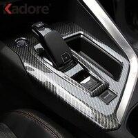 For Peugeot 3008 GT 2016 2017 2018 Carbon Fiber Gear Shift Panel Cover Car Decoration Trim Interior Accessories Car Styling