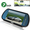 7 Inch Color TFT LCD Widescreen Touch Button Car Rearview Mirror Monitor 7'' Parking Reverse Rear view Monitor 2CH Video Input