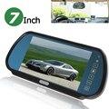 7 Polegada Cor TFT LCD Widescreen Retrovisor Do Carro Botão de Toque espelho Monitor de 7 ''Estacionamento Reverso Rear view Monitor de Vídeo 2CH entrada
