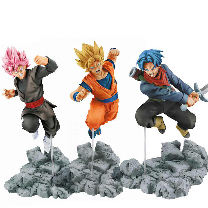 15 centímetros Action Figure Dragon Ball Goku Trunks PVC Action Figure Toys Modelo Goku De Dragon Ball Super Saiyan Rosa Preto brinquedos