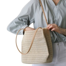 Fashion Square Straw Beach Bag Vintage Shoulder Rattan bags Bohemian Summer Casual Bags
