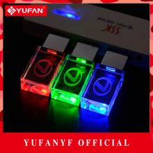 YUFANYF 2017 pendrive 3 colors Red / blue / green LED Lexus car LOGO USB falsh drive 4GB 8GB 16GB 32GB U Disk crystal gift