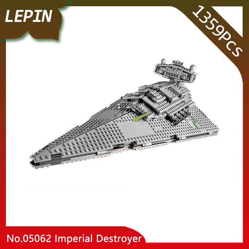 Lepin 05062 he Imperial Super Star Destroyer Set Star War Series 1359pcs Building Blocks Bricks Compatible legoed 75055 Toy imperial star destroyer set building blocks lepin 05062 1359pcs genuine star war series 75055 bricks educational children toys